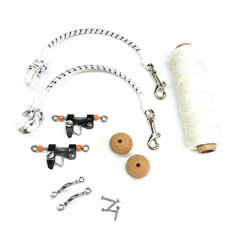 Green Plastic Outrigger Pole Rigging Kit Line Stop Pair Set Lee Taco Tigress