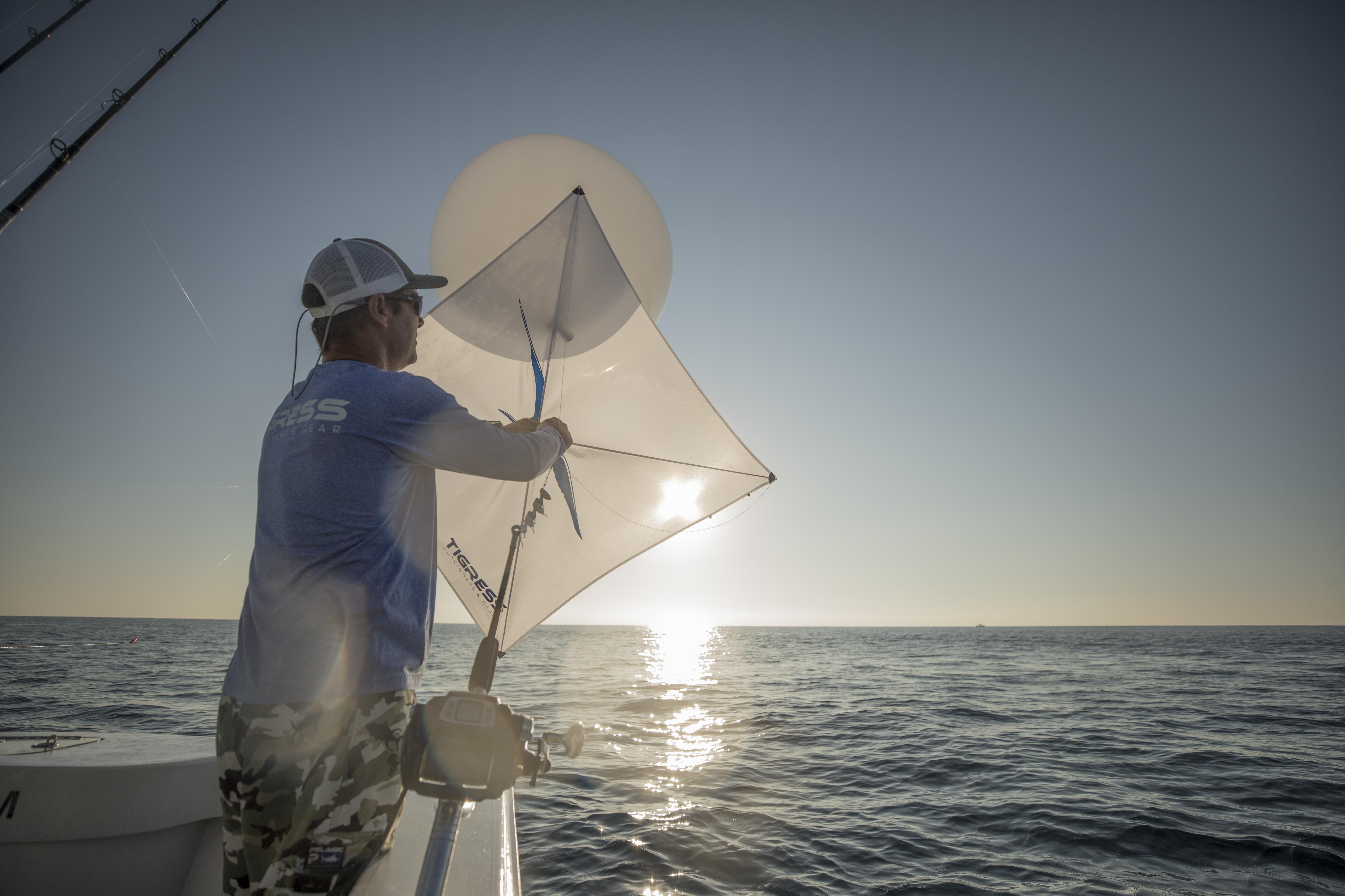 Utilizing Balloons for Kite Fishing
